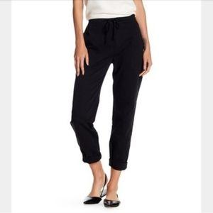 James Perse Black Simple Drawstring Casual Pants